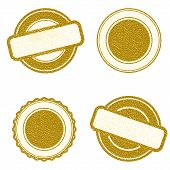 Vector Stamp Without Text. Set Of Stamps . Gold Stamps . Grunge Rubber Texture Stamp . Distressed St poster