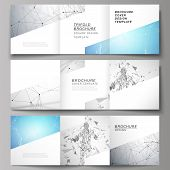 Minimal Vector Illustration Of Editable Layout. Modern Creative Covers Design Templates For Trifold  poster