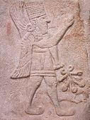Ancient Stone Bas-relief Of Latte Hittite Period From Arslantepe Ancient City, Turkey poster