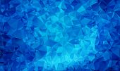 Dark Blue Vector Abstract Textured Polygonal Background. Blurry Triangle Design. Pattern Can Be Used poster