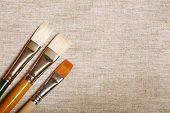 foto of paint brush  - different paint brushes - JPG
