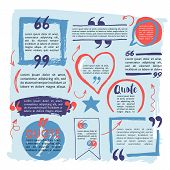 Hand Drawing Block Quote And Pull Quote Design Elements. Creative Text Template poster