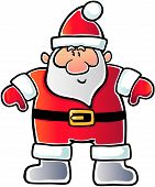 Santa With Open Arm