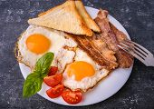 Breakfast With Bacon And Fried Eggs poster