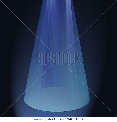 Spotlights Shinning On Center Stage