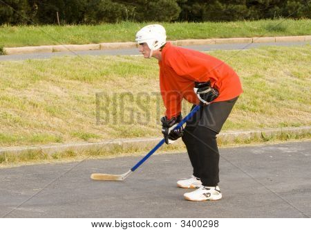 Hockeyball Player