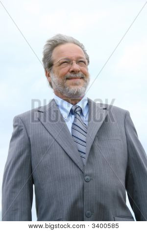 Smiling Senior Business Man