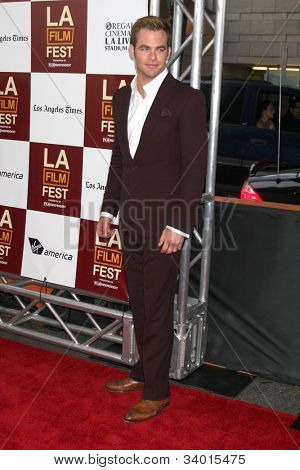 "LOS ANGELES - JUN 15:  Chris Pine arrives at the ""People LIke Us"" LAFF Premiere at Regal Cinemas at LA Live on June 15, 2012 in Los Angeles, CA"