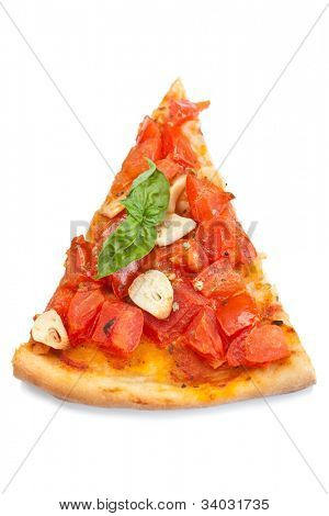 thin crust pizza alla marinara with tomatoes and garlic