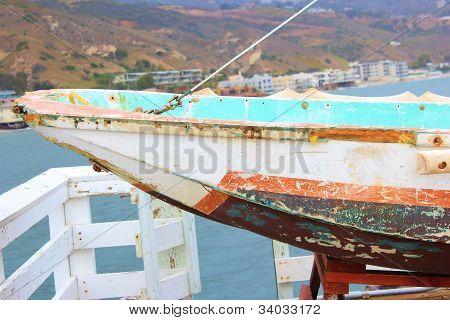 Rustic Row Boat
