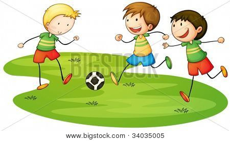 Illustration of kids playing sport