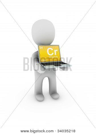 Chromium Symbol On Screen Laptop