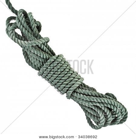 bundle cable rope  isolated over white