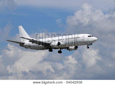 White Passenger Jet Airplane