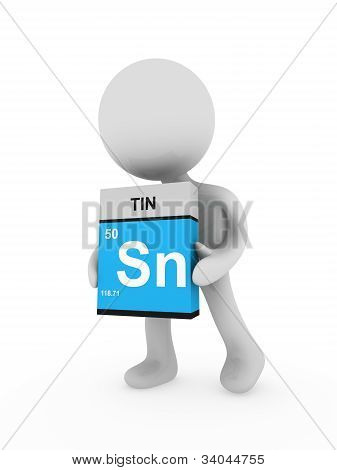 3D Man Carry A Tin Box