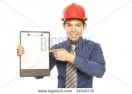 Man with a Clipboard