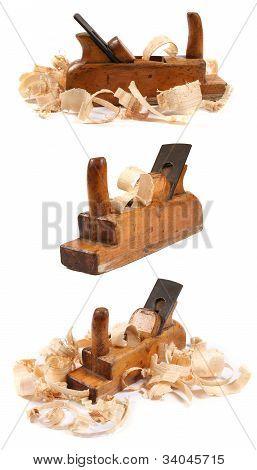 Planos de três antigos madeira marceneiro