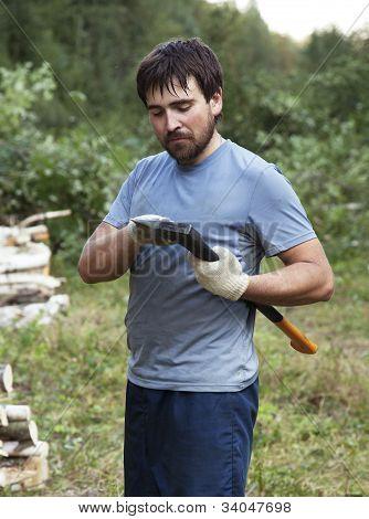 Lumberman With An Axe