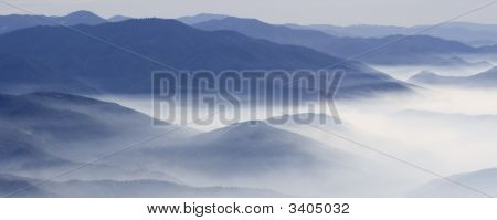 Low Fog Over Mountains
