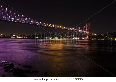 Night view of Bosphorus Bridge