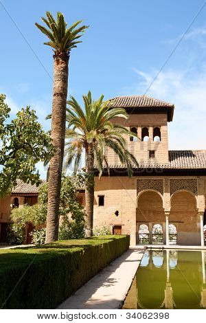 Ladies Tower At The Alhambra In Granada