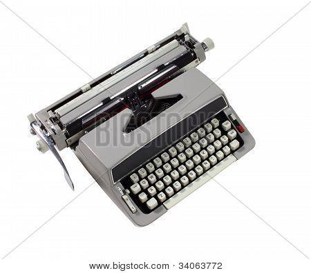 Uma máquina de escrever retrô por volta de 1960