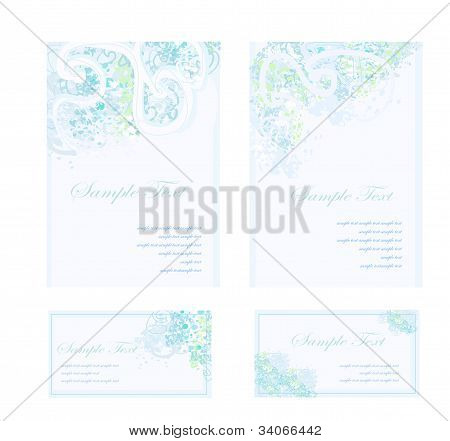 wedding reception card set