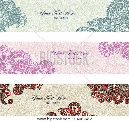 Floral Banner Set