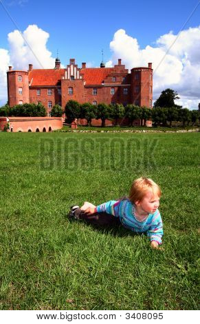 Child By Castle Manor House