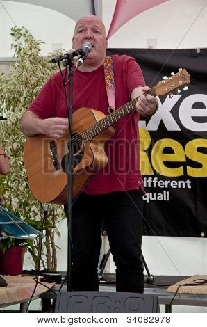 Bully from Exeter based band Mudskippers performing live in the Acoustic Cafe at the Exeter Respect