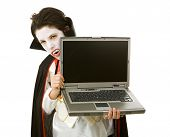 Halloween vampiro con Laptop
