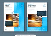 Brochure Design. A4 Cover Template For Brochure, Report, Catalog, Magazine. Layout With Bright Color poster