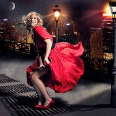 foto of sassy  - girl like Marylin Monroe standing in the wind - JPG