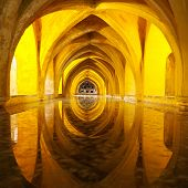 Alcazar Queen Bath, Front View Seville, Andalusia, Spain