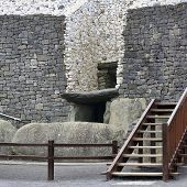 picture of corbel  - Newgrange in the Boyne Valley is a 5000 year old Passage Tomb - JPG