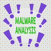 Text Sign Showing Malware Analysis. Conceptual Photo Performs Deep Analysis Of Evasive And Unknown T poster
