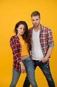Youth Fashion. Fashionable Outfit. Simple Casual Clothes. Couple Feeling Comfortable. Country Music  poster