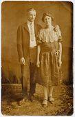 stock photo of old couple  - vintage photo - JPG