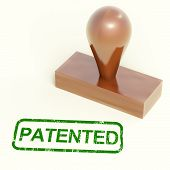 Patented Stamp Shows Trademark Patent Or Registered