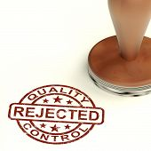 Rejected Stamp Showing Rejection Denied Or Refusal