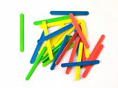 Close-up Of Sticks For Teaching Children To Count. Counting Sticks, Educational Toys, Teaching Child poster