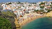 foto of beach-house  - Beach of Carvoeiro village in Algarve region Portugal - JPG