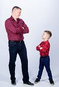 Father Little Son Red Shirts Family Look Outfit. Best Friends Forever. Happiness Being Father Of Boy poster