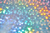 Multicolor Space Blurred Three-dimensional Heart-shaped Bokeh, Neon Juicy Bright Colors, Valentines poster