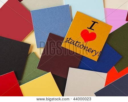 I Love Stationery Sign For