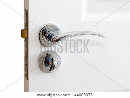 Silver Door Handle