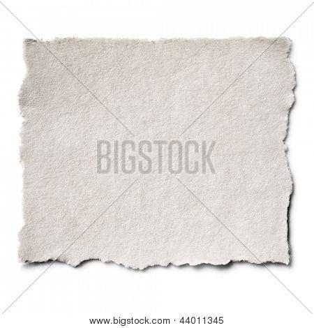 Zerrissene Blankopapier mit Exemplar.