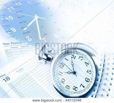 Caras de reloj, calendario y diario