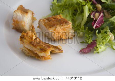 Dogfish Marinated With Salad