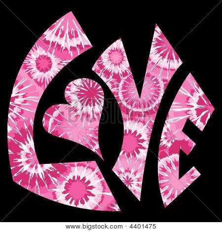 Pink Tie Dyed Love Symbol